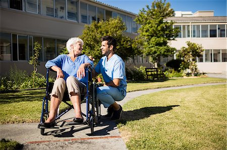 registered nurse - Nurse pushing the senior womans wheelchair Stock Photo - Premium Royalty-Free, Code: 6109-08538446