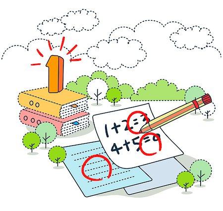 Circle mark on mathematics paper Stock Photo - Premium Royalty-Free, Code: 6111-06727557