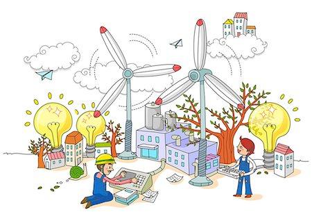 Wind Turbine Factory Worker Stock Photo - Premium Royalty-Free, Code: 6111-06727800