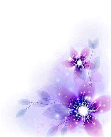decoration pattern - Illustration of abstract purple flower Stock Photo - Premium Royalty-Free, Code: 6111-06728352