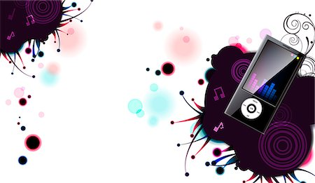 Illustration of MP3 player Stock Photo - Premium Royalty-Free, Code: 6111-06728361