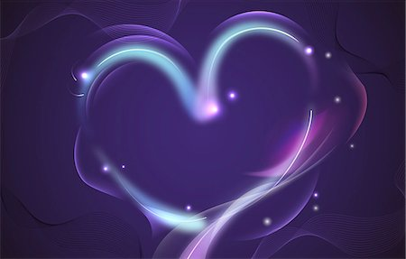 Abstract design of a heart Stock Photo - Premium Royalty-Free, Code: 6111-06728387