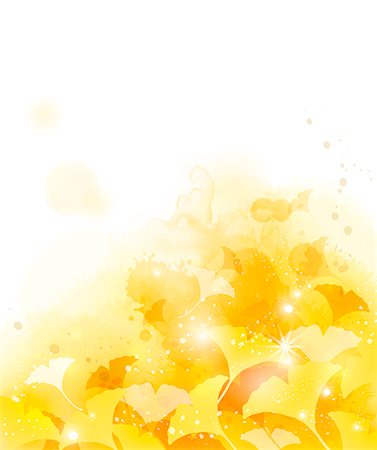 floral - Illustration of abstract yellow flowers Stock Photo - Premium Royalty-Free, Code: 6111-06728339