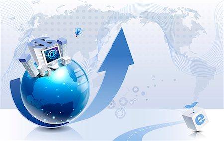 ebusiness - Illustration of e-commerce Stock Photo - Premium Royalty-Free, Code: 6111-06728420