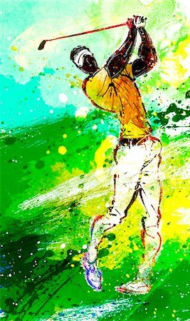 Golf Player Stock Photo - Premium Royalty-Free, Code: 6111-06728848