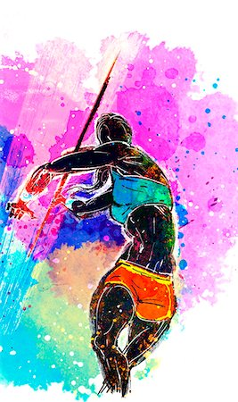 sport Woman Throwing Javelin Stock Photo - Premium Royalty-Free, Code: 6111-06728852