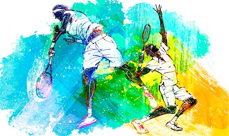 Male Tennis Player Stock Photo - Premium Royalty-Free, Code: 6111-06728822