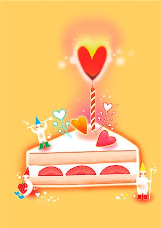 Slice Of Cake Stock Photo - Premium Royalty-Free, Code: 6111-06729149