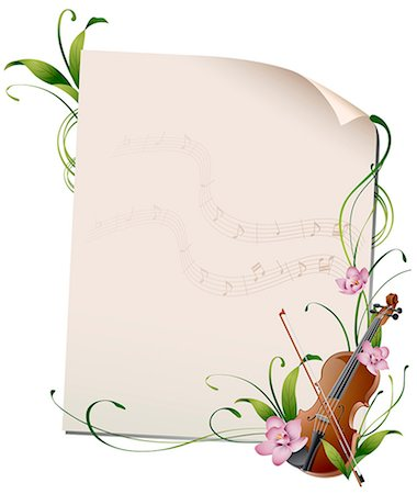 Musical Frame Stock Photo - Premium Royalty-Free, Code: 6111-06729274