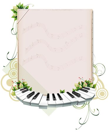 Musical Frame Stock Photo - Premium Royalty-Free, Code: 6111-06729276
