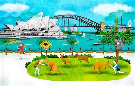 Australia, New South Wales, Sydney, Opera House And Harbor Bridge Stock Photo - Premium Royalty-Free, Code: 6111-06729210