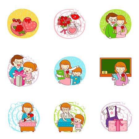 Set of various education related icons Stock Photo - Premium Royalty-Free, Code: 6111-06837116