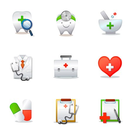 Set of various medical related icons Stock Photo - Premium Royalty-Free, Code: 6111-06837243