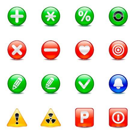 Set of various button icons Stock Photo - Premium Royalty-Free, Code: 6111-06837251