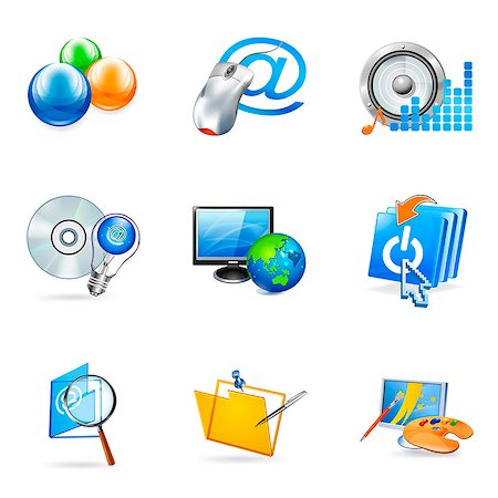 Set of various business related icons Stock Photo - Premium Royalty-Free, Code: 6111-06837259