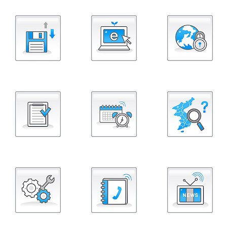Set of various icons Stock Photo - Premium Royalty-Free, Code: 6111-06837274