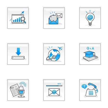 Set of various business and education related icons Stock Photo - Premium Royalty-Free, Code: 6111-06837275