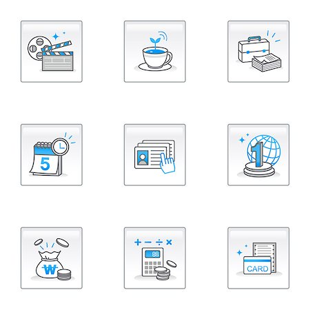 ebusiness - Set of various business related icons Stock Photo - Premium Royalty-Free, Code: 6111-06837279