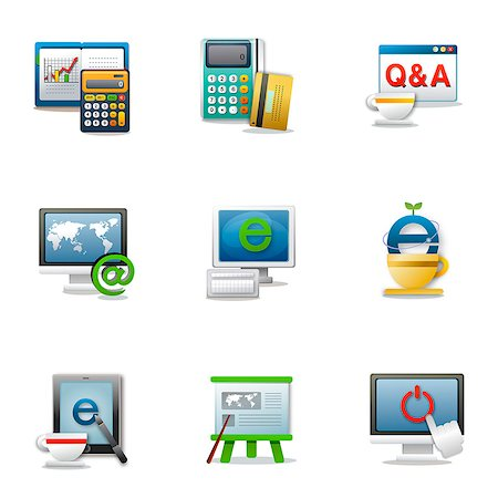 Set of various business related icons Stock Photo - Premium Royalty-Free, Code: 6111-06837203