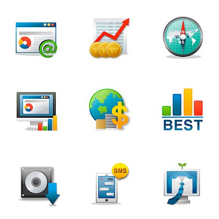 Set of various business related icons Stock Photo - Premium Royalty-Free, Code: 6111-06837200