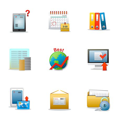 symbol - Set of various business related icons Stock Photo - Premium Royalty-Free, Code: 6111-06837208