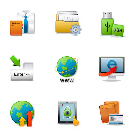 Set of various business related icons Stock Photo - Premium Royalty-Free, Code: 6111-06837211