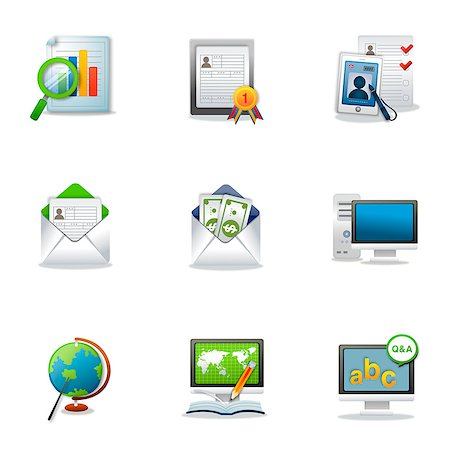 Set of various business related icons Stock Photo - Premium Royalty-Free, Code: 6111-06837212