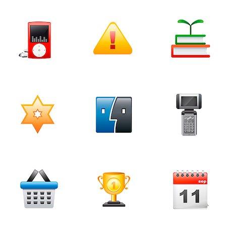 Set of various icons Stock Photo - Premium Royalty-Free, Code: 6111-06837306