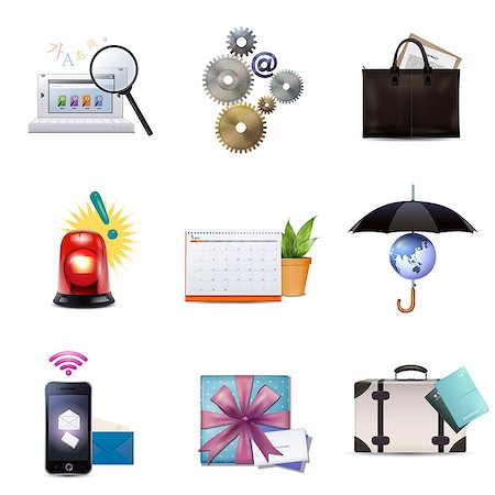 symbol - Set of various icons Stock Photo - Premium Royalty-Free, Code: 6111-06838083