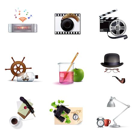 Set of various icons Stock Photo - Premium Royalty-Free, Code: 6111-06838088