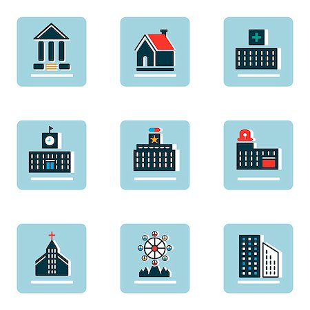 Set of various architecture related icons Stock Photo - Premium Royalty-Free, Code: 6111-06838453
