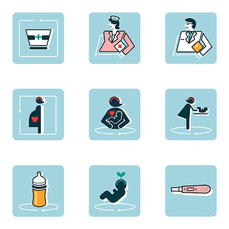 Set of various medical related icons Stock Photo - Premium Royalty-Free, Code: 6111-06838450