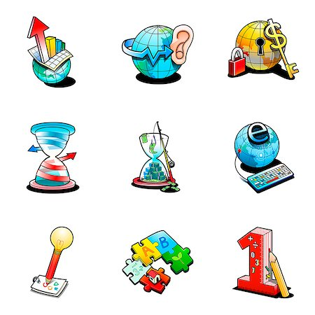symbol - Various business related icons Stock Photo - Premium Royalty-Free, Code: 6111-06838414