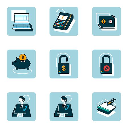 Set of various business related icons Stock Photo - Premium Royalty-Free, Code: 6111-06838422