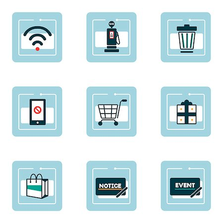 Set of various icons Stock Photo - Premium Royalty-Free, Code: 6111-06838434