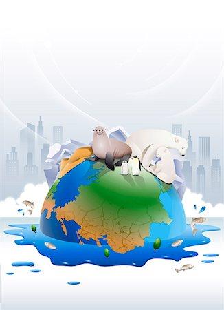 An illustration representing the impact of environmental damage. Stock Photo - Premium Royalty-Free, Code: 6111-06838599