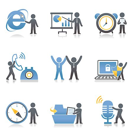 symbol - Set of various communication related icons Stock Photo - Premium Royalty-Free, Code: 6111-06838514