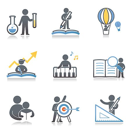 Set of various icons Stock Photo - Premium Royalty-Free, Code: 6111-06838520