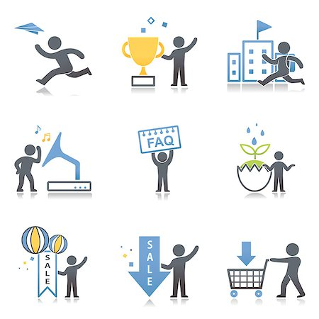 Set of various icons Stock Photo - Premium Royalty-Free, Code: 6111-06838521