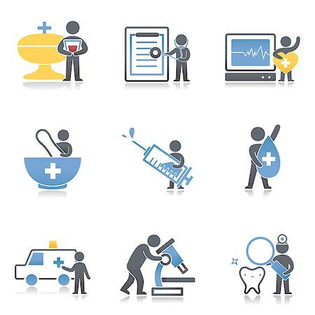 Set of various medical related icons Stock Photo - Premium Royalty-Free, Code: 6111-06838526