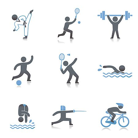 Set of various sport related icons Stock Photo - Premium Royalty-Free, Code: 6111-06838531