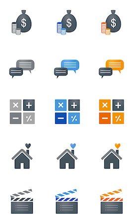 Set of various icons Stock Photo - Premium Royalty-Free, Code: 6111-06838703