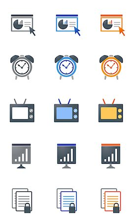 Set of various business related icons Stock Photo - Premium Royalty-Free, Code: 6111-06838709