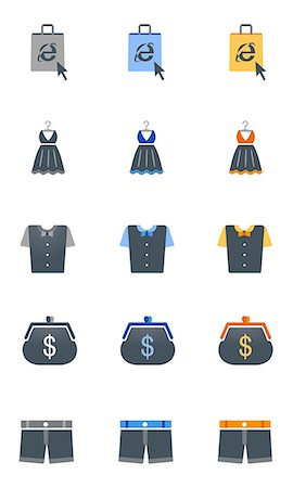 Set of various finance related icons Stock Photo - Premium Royalty-Free, Code: 6111-06838718