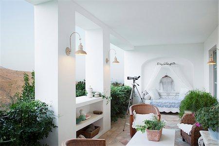 Luxury balcony Stock Photo - Premium Royalty-Free, Code: 6113-06498352