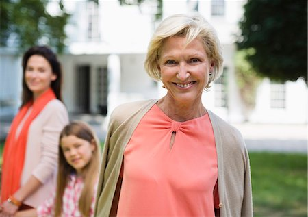 Three generations of women walking outdoors Stock Photo - Premium Royalty-Free, Code: 6113-06626371