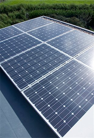 Close up of solar panels outdoors Stock Photo - Premium Royalty-Free, Code: 6113-06626734