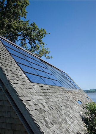 Close up of solar panels in roof Stock Photo - Premium Royalty-Free, Code: 6113-06626735