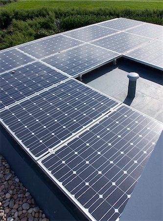 Close up of solar panels outdoors Stock Photo - Premium Royalty-Free, Code: 6113-06626736
