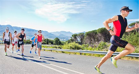 runner (male) - Runners in race on rural road Stock Photo - Premium Royalty-Free, Code: 6113-06754025